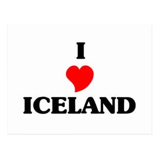 Amo Islandia Tarjeta Postal