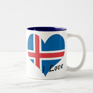 Amo Islandia Taza Dos Tonos