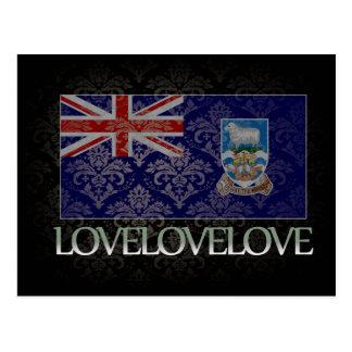 Amo Islas Malvinas frescas Tarjetas Postales