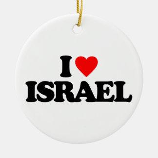AMO ISRAEL ADORNO NAVIDEÑO REDONDO DE CERÁMICA