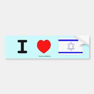 Amo Israel Pegatina De Parachoque