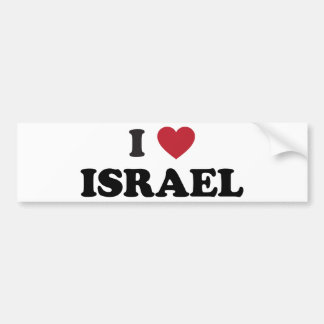 Amo Israel Etiqueta De Parachoque
