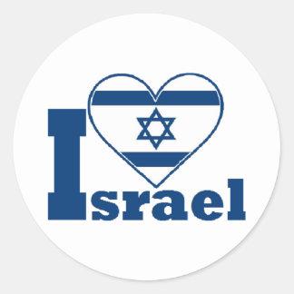 Amo Israel Pegatina Redonda