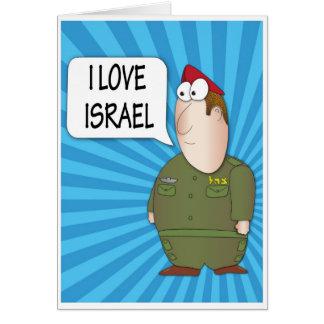 AMO ISRAEL - soldado del israelí de la tarjeta de