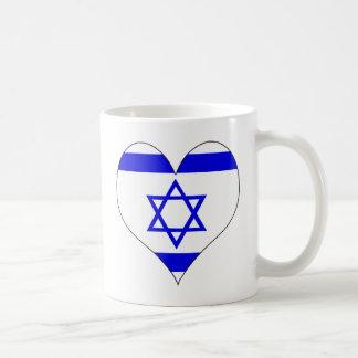 Amo Israel Taza Básica Blanca