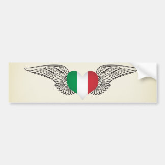 Amo Italia - alas Etiqueta De Parachoque
