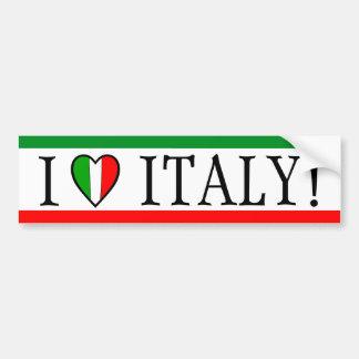¡Amo Italia! Bandera del corazón Pegatina Para Auto
