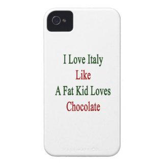 Amo Italia como un chocolate de los amores del iPhone 4 Case-Mate Protector