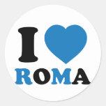 Amo Italia Etiqueta Redonda