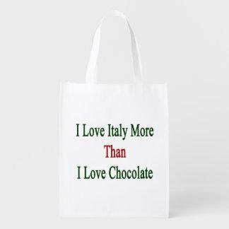 Amo Italia más que el chocolate del amor de I Bolsa Para La Compra