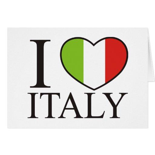 Amo Italia Tarjeta De Felicitación