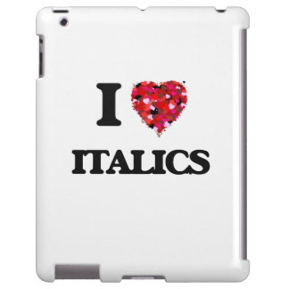 Amo itálicos funda para iPad