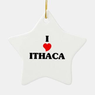 Amo Ithaca Adorno De Cerámica En Forma De Estrella