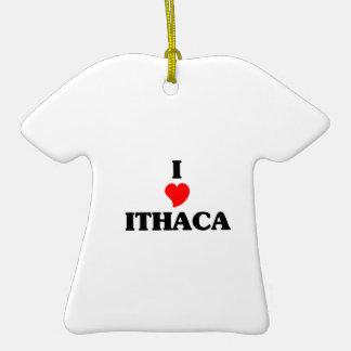 Amo Ithaca Adorno De Cerámica En Forma De Playera