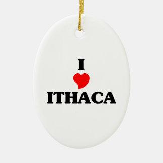 Amo Ithaca Adorno Ovalado De Cerámica