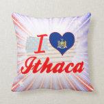 Amo Ithaca, Nueva York Almohadas