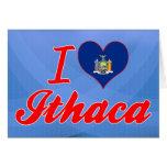 Amo Ithaca, Nueva York Tarjetas
