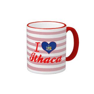 Amo Ithaca Nueva York Tazas De Café