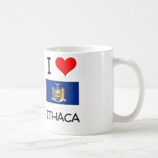 Amo Ithaca Nueva York Taza