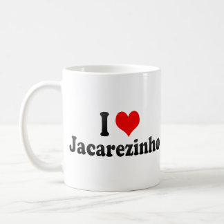 Amo Jacarezinho, el Brasil Taza Básica Blanca