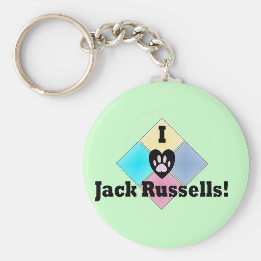 Amo Jack Russells Llavero Personalizado