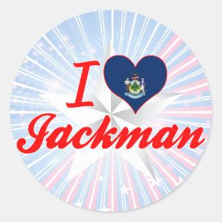 Amo Jackman, Maine Pegatina Redonda