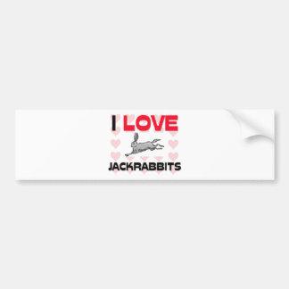 Amo Jackrabbits Etiqueta De Parachoque