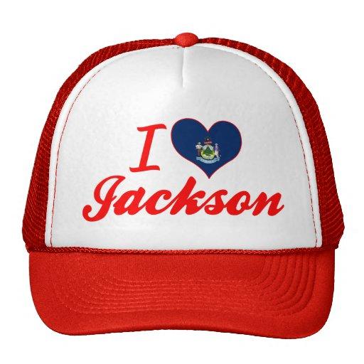 Amo Jackson, Maine Gorros Bordados