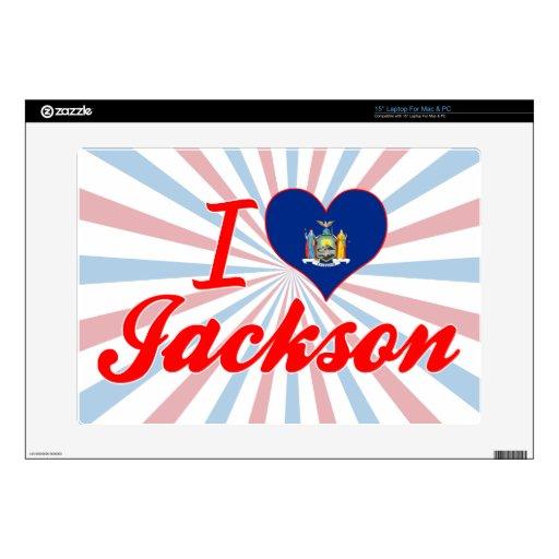 Amo Jackson, Nueva York Portátil Calcomanía