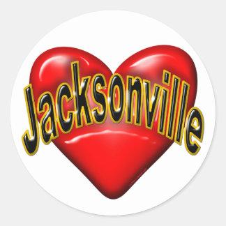 Amo Jacksonville Etiqueta