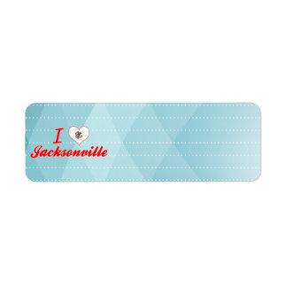 Amo Jacksonville, Illinois Etiqueta De Remite