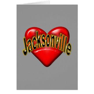 Amo Jacksonville Tarjeton