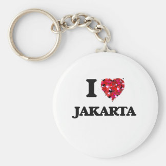 Amo Jakarta Indonesia Llavero Redondo Tipo Pin
