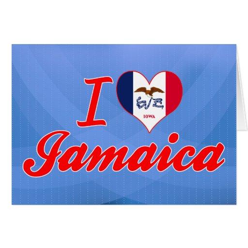 Amo Jamaica, Iowa Tarjeta De Felicitación