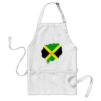 Amo Jamaica. La tierra hermosa de primaveras Delantal