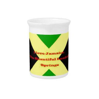 Amo Jamaica. La tierra hermosa de primaveras Jarra Para Bebida