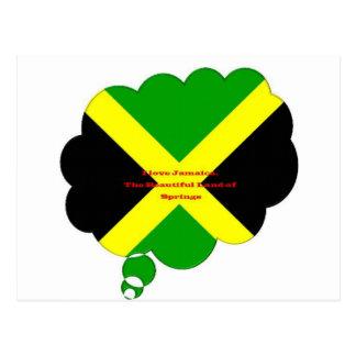 Amo Jamaica. La tierra hermosa de primaveras Postal