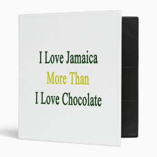 Amo Jamaica más que el chocolate del amor de I