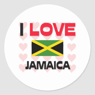 Amo Jamaica Pegatina Redonda