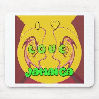 Amo Jamaica.png Alfombrillas De Ratón