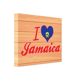 Amo Jamaica, Vermont Impresión En Lienzo Estirada