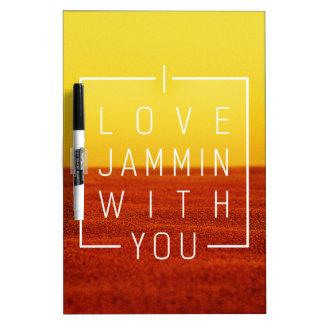 Amo jammin con usted diseño del amor tableros blancos