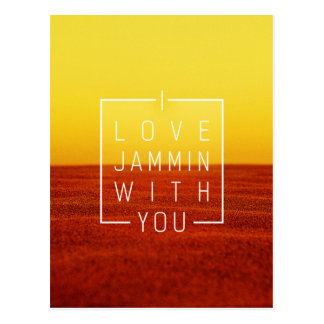 Amo jammin con usted diseño del amor tarjetas postales