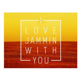 Amo jammin con usted diseño del amor postales