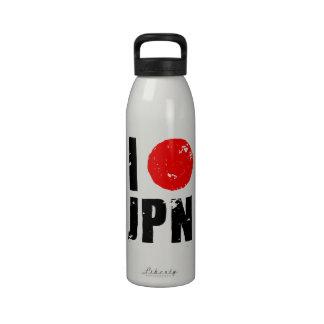 Amo Japón (amor JPN de I) Botella De Agua Reutilizable