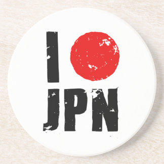 Amo Japón (amor JPN de I) Posavasos Personalizados