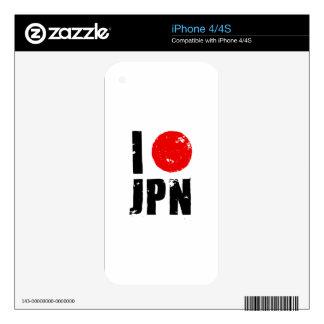 Amo Japón (amor JPN de I) Skins Para eliPhone 4