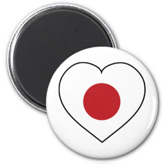 Amo Japón Imán Redondo 5 Cm