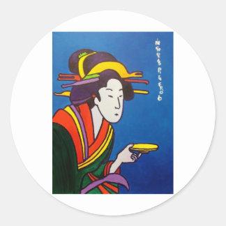 Amo japonés # 1 pegatina redonda