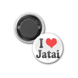 Amo Jatai, el Brasil. Eu Amo O Jatai, el Brasil Imán Redondo 3 Cm